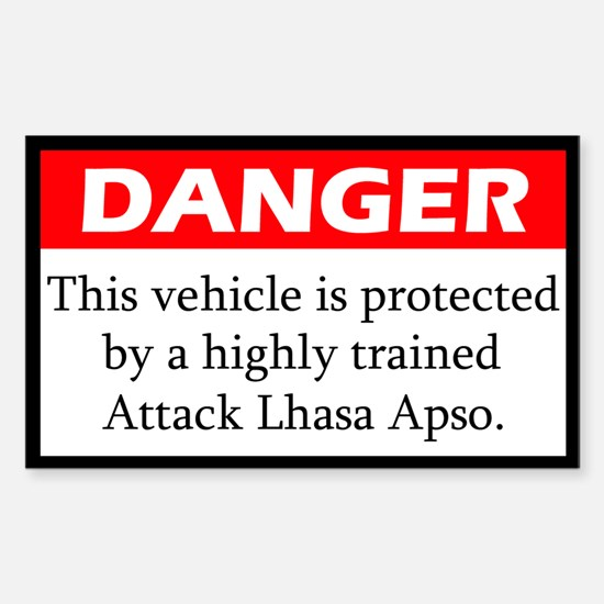 Attack Lhasa Apso Decal