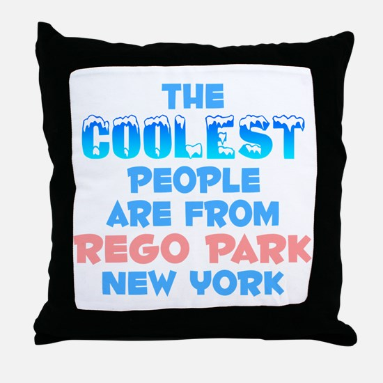 Coolest: Rego Park, NY Throw Pillow