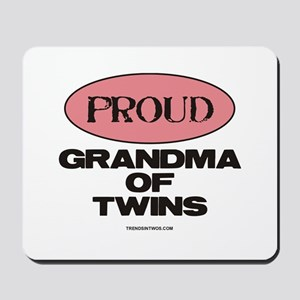 Grandma of Twins - Mousepad