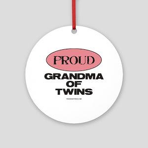 Grandma of Twins - Ornament (Round)