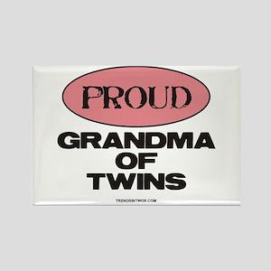 Grandma of Twins - Rectangle Magnet