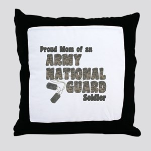 National Guard Mom (tags) Throw Pillow