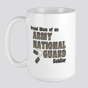 National Guard Mom (tags) Large Mug