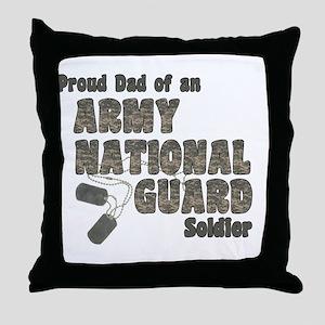 National Guard Dad (tags) Throw Pillow