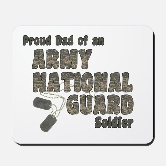 National Guard Dad (tags) Mousepad