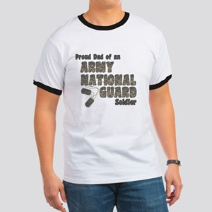 National Guard Dad (tags) Ringer T