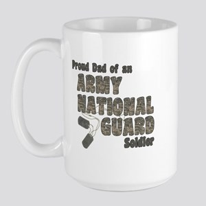 National Guard Dad (tags) Large Mug