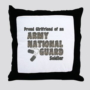 National Guard Girlfriend (tags) Throw Pillow