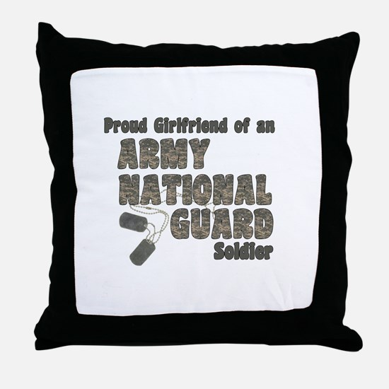 National Guard Girlfriend (tags) Throw Pillow