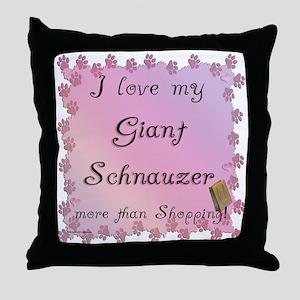 Schnauzer Shopping Throw Pillow