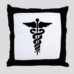 Medical Symbol Caduceus Throw Pillow