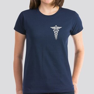 Medical Symbol Caduceus Women's Dark T-Shirt