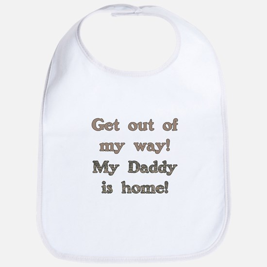 Welcome Home Daddy Bib