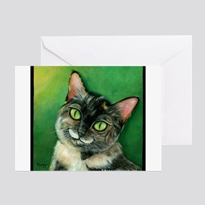 Tortoise Shell Cat Greeting Cards
