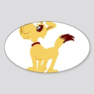 DOG_1 Oval Sticker