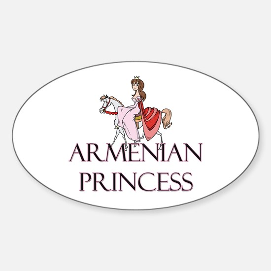 Armenian Princess Oval Decal