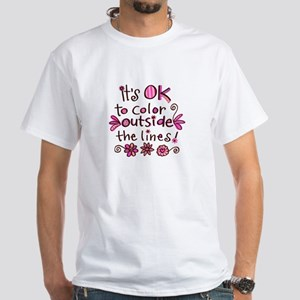 Color Outside the Lines White T-Shirt