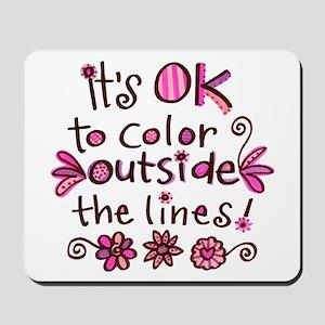 Color Outside the Lines Mousepad