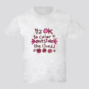 Color Outside the Lines Kids Light T-Shirt
