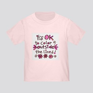 Color Outside the Lines Toddler T-Shirt