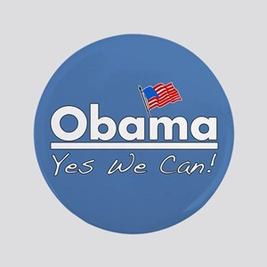 """Obama: Yes We Can! 3.5"""" Button"""
