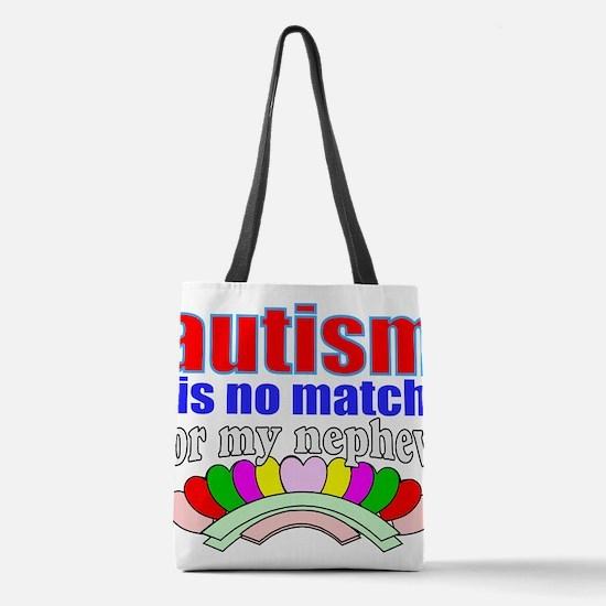 Autism vs nephew Polyester Tote Bag