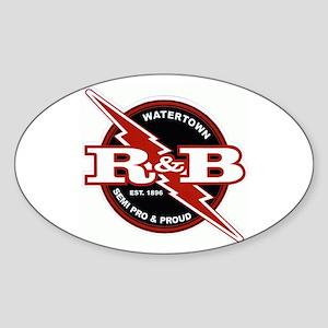 Watertown Red & Black Oval Sticker