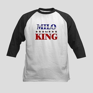 MILO for king Kids Baseball Jersey