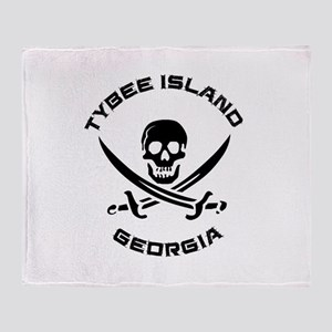 Georgia - Tybee Island Throw Blanket