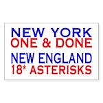 NY vs NE Rectangle Sticker
