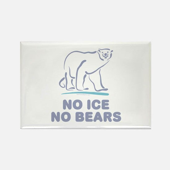 Polar Bears & Climate Change Rectangle Magnet