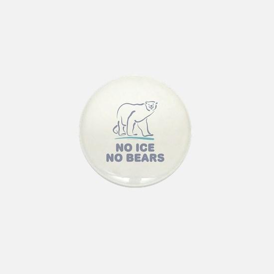 Polar Bears & Climate Change Mini Button
