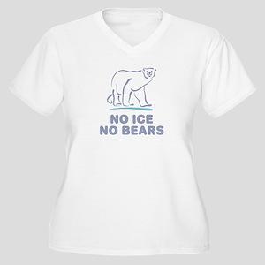 Polar Bears & Climate Change Women's Plus Size V-N