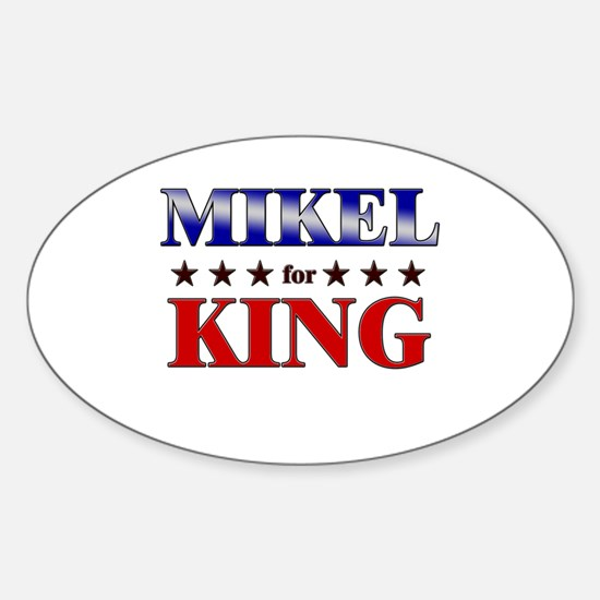 MIKEL for king Oval Decal