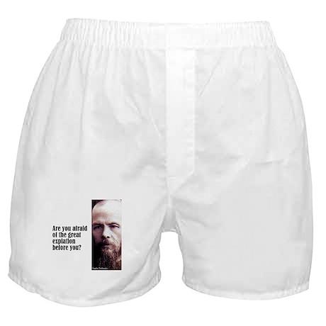 "Dostoevsky ""Expiation"" Boxer Shorts"