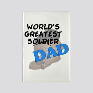 Greatest Soldier Dad Rectangle Magnet