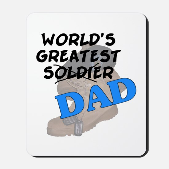 Greatest Soldier Dad Mousepad