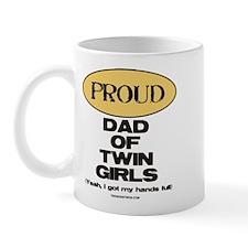 Dad of Twin Girls - Mug