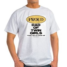Dad of Twin Girls - Light T-Shirt