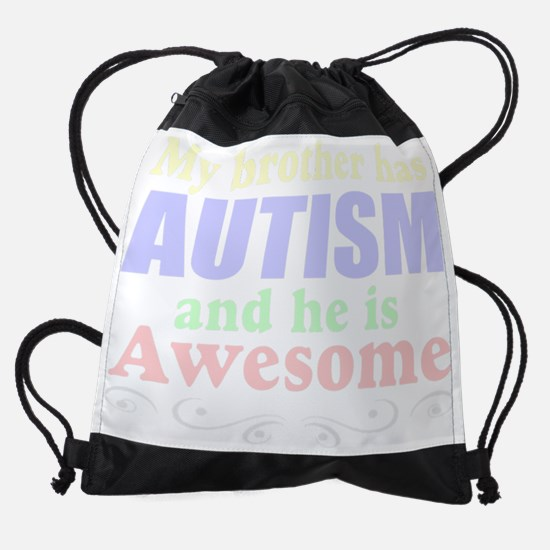 autism brother Drawstring Bag
