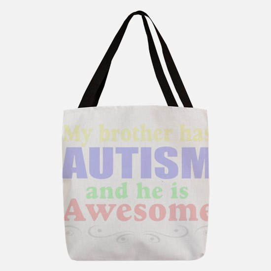 autism brother Polyester Tote Bag