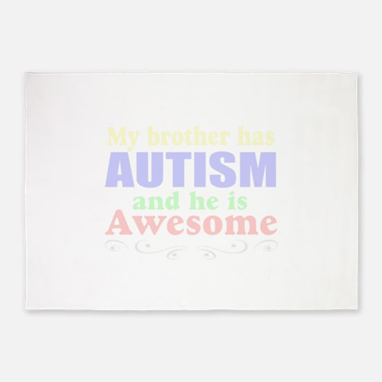 autism brother 5'x7'Area Rug