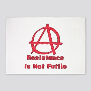 Resistance Is Not Futile 5'x7'Area Rug