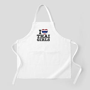 I Love Thai Girls BBQ Apron
