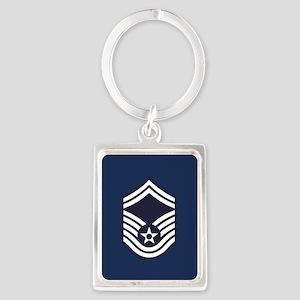 USAF: SMSgt E-8 (Blue) Portrait Keychain