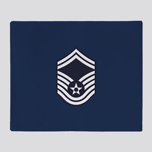 USAF: SMSgt E-8 (Blue) Throw Blanket