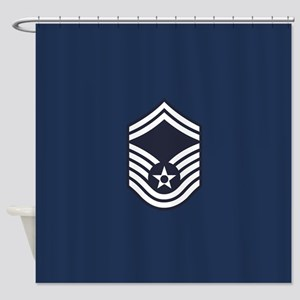 USAF: SMSgt E-8 (Blue) Shower Curtain