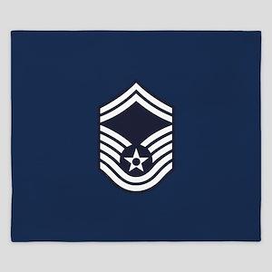 USAF: SMSgt E-8 (Blue) King Duvet
