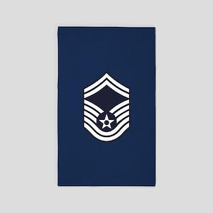 USAF: SMSgt E-8 (Blue) Area Rug