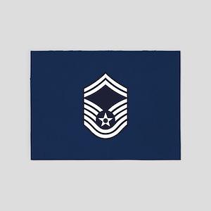 USAF: SMSgt E-8 (Blue) 5'x7'Area Rug